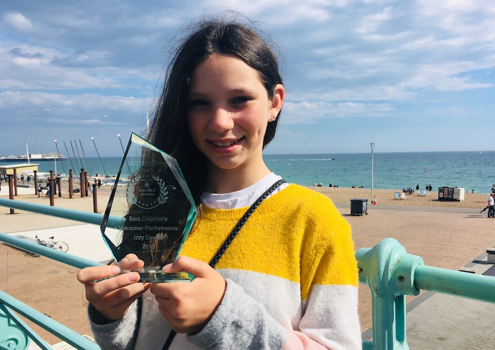 Congratulations Izzy, winner Best Children's Voiceover Performance 2019